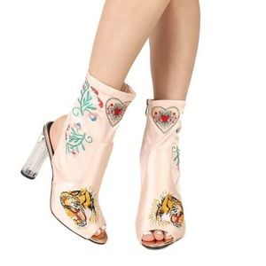 Shoes - FIERCE EMBROIDERED BOOTS